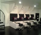 view of indulgence day spa manicure chairs